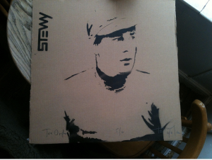 Stewy Joe Orton portrait on Cardboard