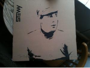 Stewy Joe Orton portrait on Cardboard